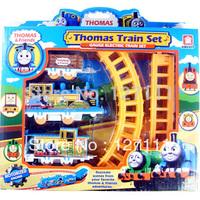 Free shipping  thomas set electric rail train toy train track toy set children toy