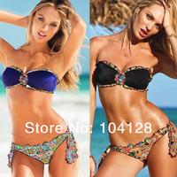 Summer 2014 secret crystal bikini womens swimwear padded push up bikini tops brazilian bikini bottoms sexy bathing suit #05