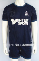 2013-2014 Marseille soccer jersey football jersey,Third Jersey Navy blue 13/14 Marseille shirts,top quality shirts,Fans version