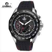2014 new limited hardlex genuine casima band quartz watch waterproof men's sports 8206 male clock rubber round shock resistant