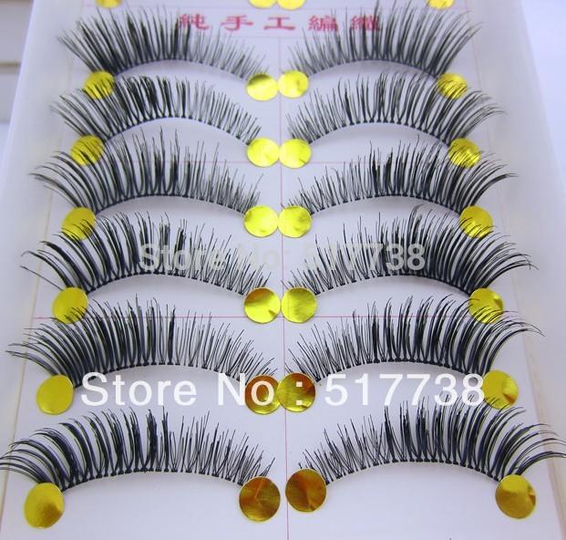 Free Shipping 10Pair/Lot Thick False Eyelashes Mink Eyelash Lashes Voluminous Makeup #005 Tail Winged(China (Mainland))