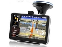 Cheapest 5 inch car GPS navigator+ 4GB built in memory +128RAM+800MHZ  FREE MAP FM transitter +Wall Charger in Retail box