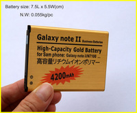 Hot ! For Samsung N7100 GALAXY NOTE2 GT-N7100 Battery High Capacity Battery 3.7V 4200mAh 2pcs/lot HK post Free Shipping