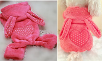Pet dog clothes Teddy VIP Single Pink Coral Velvet Rabbit Dog Clothes Bichon puppy clothing Free shipping