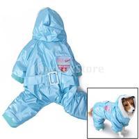 Free Shipping Blue Pet Dog Hoodie Hooded Winter Coat Jacket Jumpsuit
