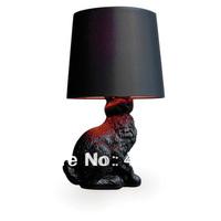 New Modern Design Mooi Black White Rabbit Table Lamp Desk Light Beside Lighting EMS fast shipping