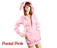 New hot sale Cute Women Bunny Ears Warm Sherpa Hoodie Jacket Coat tops Outerwear Four Colors 3275