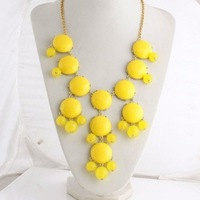 free shipping hot sale in 2013 bubble bib statement necklace for women length 40cm best price in aliexpress