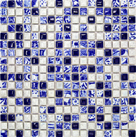 Crystal glass mosaic mirror tile 5 edging mirror first door wall stickers