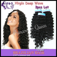 "Princess & Queen Virgin 5A Deep Wave Hair Extensions Luvin Malaysian Human Hair 8""-28"" 3pcs Lot Mixed Length No Shedding"