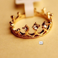 The minimum is $10 (mixed order) free shipping, South Korea fashion accessories crown ring, welcome to buy!