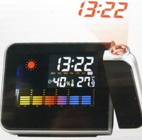 2014 NEW DIGITAL LED Backlight WEATHER PROJECTION SNOOZE ALARM CLOCK,Color Display