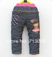 free shipping 2013 new cartoon boy's Trousers children jeans children's pants wholesale girl pants 1lot=4pcs