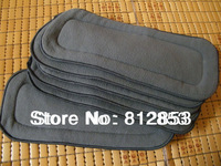 free shipping(5pcs/lot)retail bamboo charcoal insert for baby cloth diaper,5layers of hemp inserts