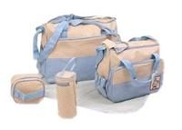 Mother infanticipate mummy Babies bags fashion nappy bag multifunctional double-shoulder cross-body 5 piece set