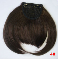 Free shipping color 4#, light brown 100% real human hair fringes, hair extension front bangs