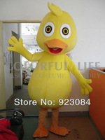 Yellow Duck Mascot Costume Cartoon Character Mascotte Mascota Outfit Suit  Free Shipping