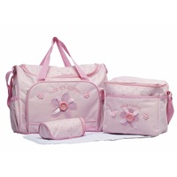 4pcs/set Carters Diaper's Bags for Baby Durable Mother Wet Bag Fashion Mummy Bag