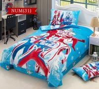 100% cotton cartoon bedding sets for boys kids children baby bed linen bed sheet bedclothes &Ultraman OutMan Altman  #C30-1
