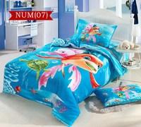 100% COTTON 3d kids cartoon bedding sets for boy girls child bed set bed clothes/duvet cover set/ bed linen &Fish design#C30-7