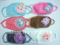 50pcs/lot  Lint Cartoon Little Bear Little Rabbit Face Masks Dustproof Mouth Masks