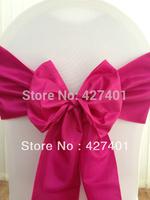 Hot Sale Raspberry-Fuchsia  Taffeta Chair Sash For Wedding Event & Party Decoration