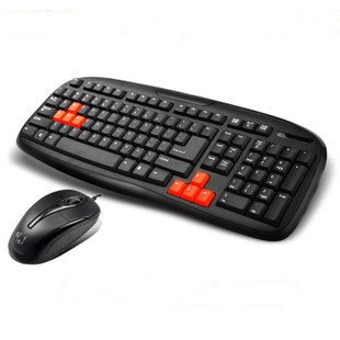 Free shipping,Game Mouse and keyboard set,Standard keyboard mouse wired kit