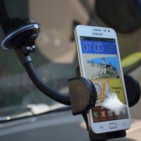 Gooseneck Long Arm Phone Car Mount Holder For Galaxy Nexus Mega S S2 S3 S4 S5 IPhone 4 4S 5 5S 5C Touch iPod