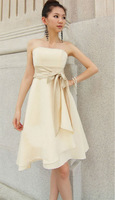 Slim dress bridesmaid dress short design bride wedding dress banquet dress