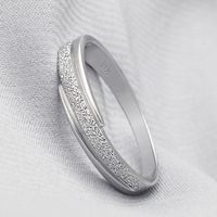Hot Sale Frosted Ring,925 Sterling Silver with 3 Layer Platinum Plated,Best Gift for Girlfriend