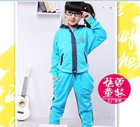 2013 New design fashion Children's clothing sets girl sweater+trousers 2 pieces children clothing sport sets for 5-14 years old