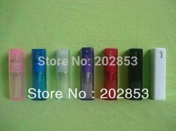 50pcs/lot Hot Selling pump 10ml plastic outer skin perfume Bottle and glass inner bottle Lighter Spray Shape Empty Scent bottle