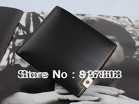Worldwide Free Shipping Brand name genuine Leather Wallet for men Gent Leather purses+ brand orginal gift box