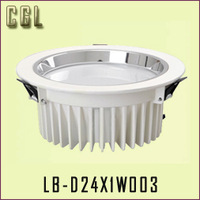 9inch 24W Led downlight , recessed downlight, 24X1W epistar chip, 2640lm, CE standard 20pcs/lot free shipping