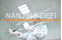 """22"""" Dual interactive touch foil Film through glass window shop  Best price and  cost"""