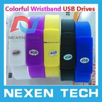 High Quality Colorful Wristband Usb Drive USB Memory Stick Pen Drives Storage 4GB 8GB 16GB 32GB Wristbands USB Drives