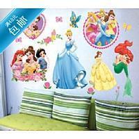 Free shipping Cartoon wall stickers child wall sticker child real wall stickers Large gorgeous noble princess