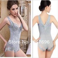 Free Shipping  Women sexy corset shaper magic slimming suit body building underwear shapewear Lace