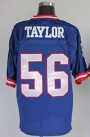 giants Lawrence Taylor #56 simms #11 throwback american football jersey M&N Stitched Jersey mix order Free shipping