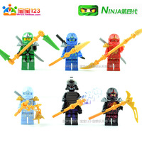 High Quanlity Ninjaman Figure 6 pcs set, Decool 002x, Children Educational Building Blocks, Ninjago toys 4th, Free Shipping