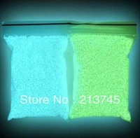 Free shipping!!! charm 100gram/lot Green color Glow at night Fairy tiny rock Dust LUMINOUS sand rice art GLOWS IN DARK