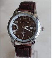 High quality  LEATHER Strap men quartz sprots watch smart dress watch