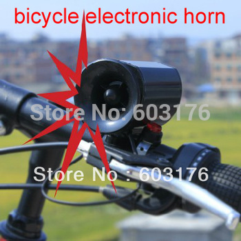 Free Shipping Super Loud 6 tones Bicycle Electronic Bell Road/Mountain Bike Alarm Siren Horn Loud Speaker