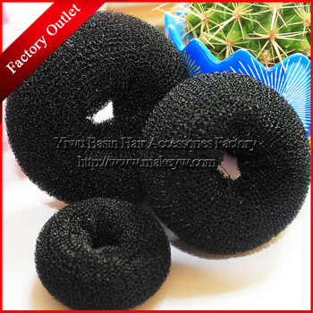 Free shipping 5pcs/lot 2013 new Foaming Ball Shape Hair Band Good Donut meatball head bud Sponge hair band Fashion Bun Clip