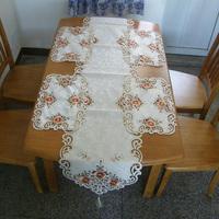 1pcs table runner 200cm x 40cm + 4pcs table mat 30cm x 45cm set