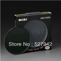 Free shipping NISI 77mm ND1000 ultra-thin in gray filter Neutral Density adjustable 10 dimmer 49mm 55mm 58mm 67mm 72mm 77mm 82mm
