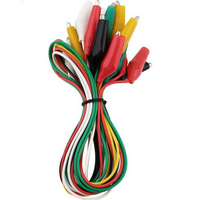 5 Color 10pcs 50cm Double-ended Alligator Crocodile Clip Jumper Probe Lead Test Wire