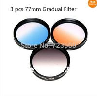 77mm 77 mm Gradual grey blue orange Color Special Effect Lens Filter Screw Mount For Canon Nikon Sony Samsung Fuji Pentax Camera