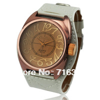 2013 Vintage Designer Watches For Womens Fashion Big Dial PU Leather Strap Wrist Watch