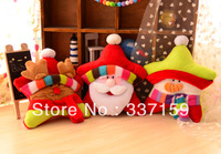 2013New arrival! Free shipping plush pet toy for pets teeth super soft christmas party style star, snowman, Santa Claus for pets